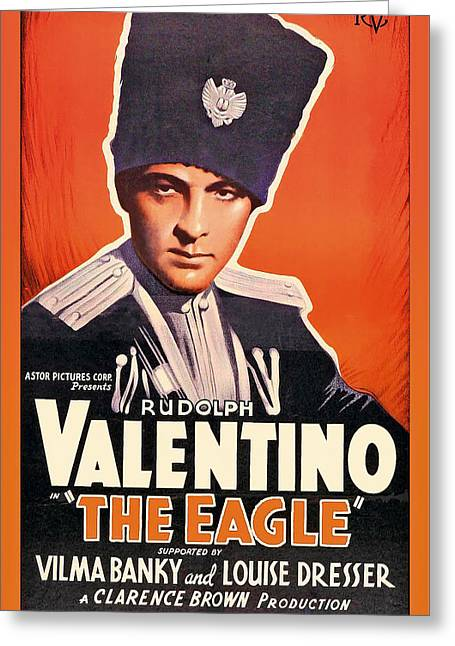 Rudolph Greeting Cards - Rudolph Valentino In The Eagle 1925 Greeting Card by Mountain Dreams