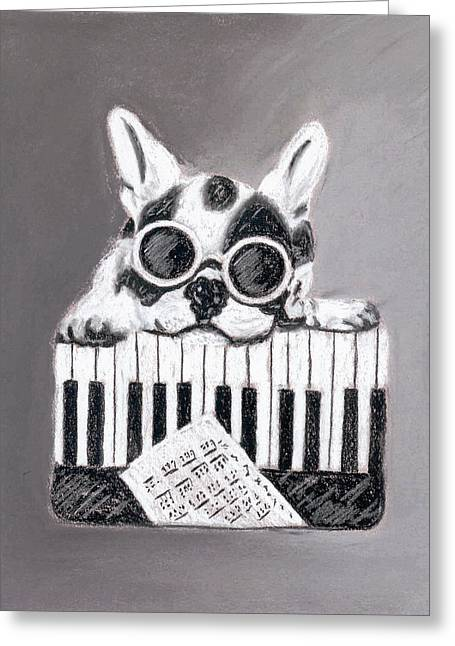 Sunglasses Pastels Greeting Cards - Rudy Greeting Card by William Bowers