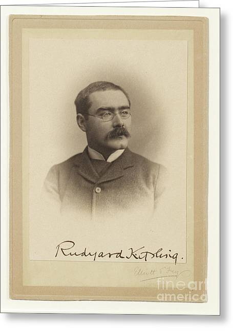 Rudyard Kipling  Greeting Card by MotionAge Designs