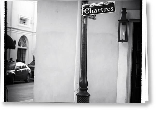 Rue de Chartres Greeting Card by John Rizzuto