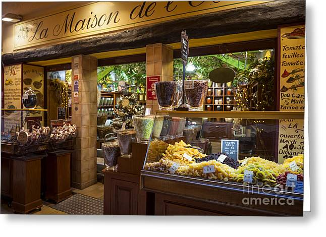 European Cities Greeting Cards - Rue Pairoliere in Nice France Greeting Card by Elena Elisseeva