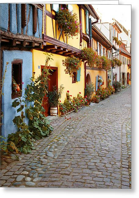 Alsace Greeting Cards - Ruelle Greeting Card by John Galbo