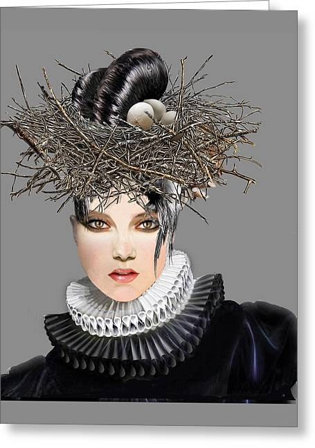 Theater Greeting Cards - Ruffled Feathers Masque Greeting Card by Elisabeth Trostli