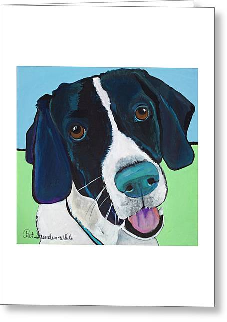 Ruger Greeting Card by Pat Saunders-White