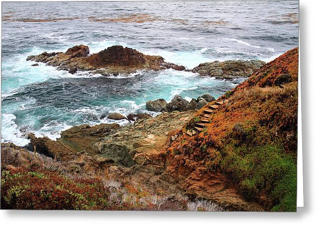 Big Sur Greeting Cards - Rugged coastline Greeting Card by Pierre Leclerc Photography