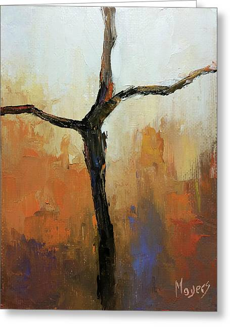 Rugged Cross Greeting Card by Mike Moyers