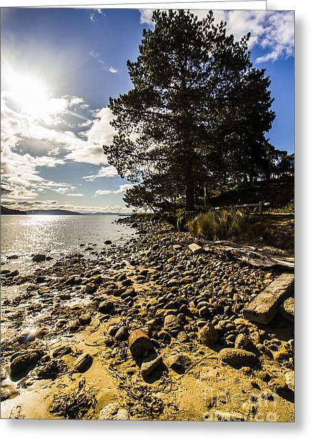 Rugged Seascape Greeting Card by Jorgo Photography - Wall Art Gallery