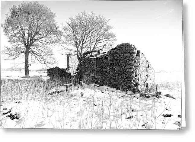 Black Top Greeting Cards - Ruin at Middleton Top Greeting Card by Phil Searle