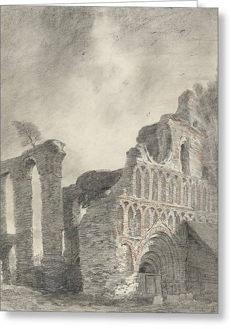 Ruin Of St Botolph's Priory Greeting Card by John Constable