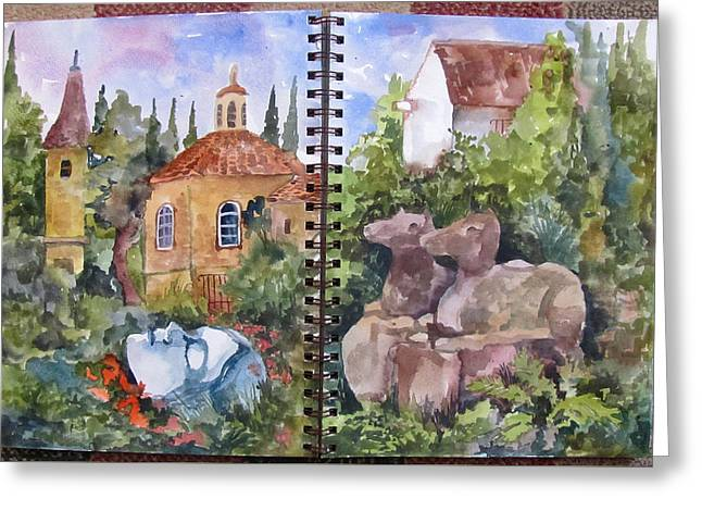 Sketchbook Greeting Cards - Ruins and Remnants Greeting Card by James Huntley