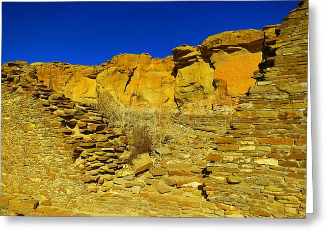 Ruins And Rock Greeting Card by Jeff Swan