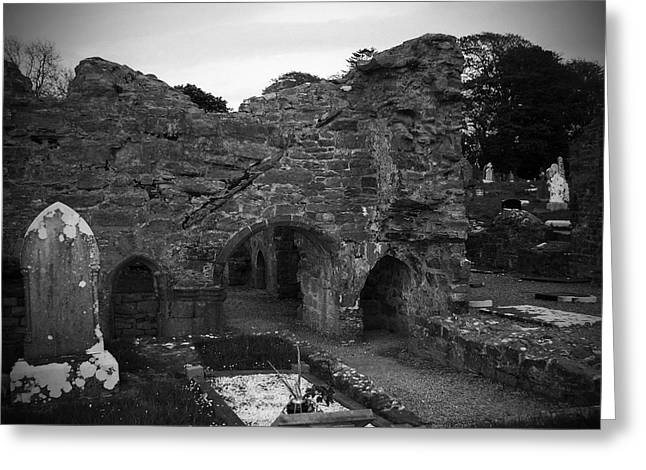 Irish Greeting Cards - Ruins at Donegal Abbey Donegal Ireland Greeting Card by Teresa Mucha