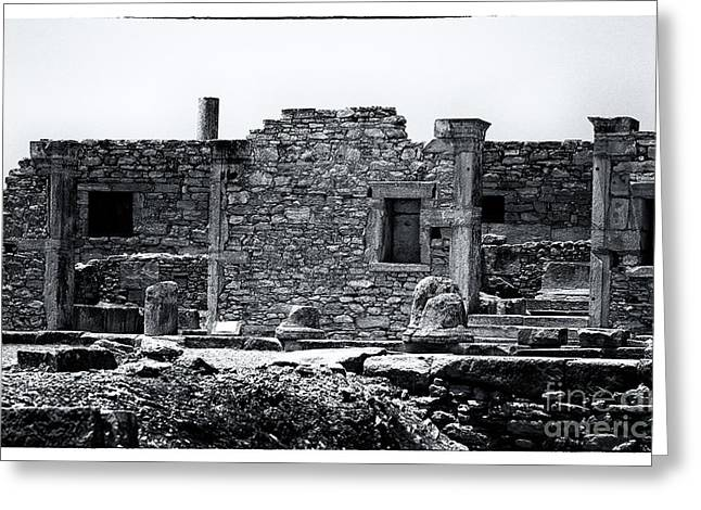 Art For Sanctuaries Greeting Cards - Ruins at the Sanctuary of Apollo Hylates Greeting Card by John Rizzuto
