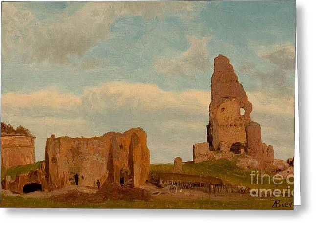 Ruins Campagna Greeting Card by MotionAge Designs