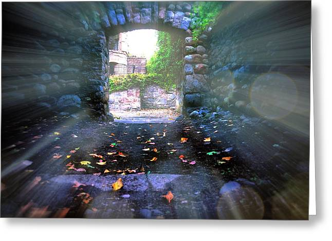 Medieval Entrance Digital Greeting Cards - Ruins Entrance Greeting Card by Lilia D