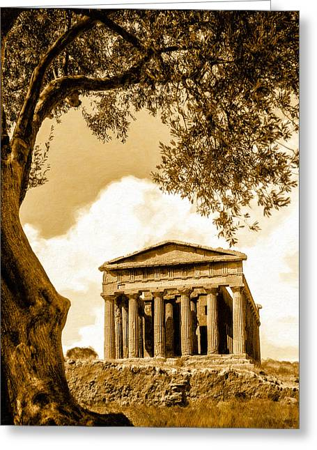 Ruins Of Ancient Agrigento Greeting Card by Mark E Tisdale