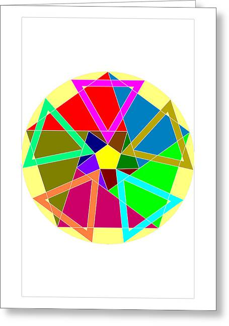 Coloured Greeting Cards - Ruleta Greeting Card by Francisco Rodriguez