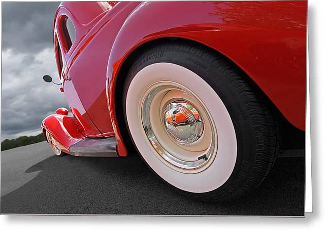 Rumblefest Red - Ford Coupe Greeting Card by Gill Billington