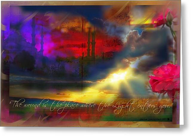 Rumi Rumination-1 Greeting Card by Seema Sayyidah