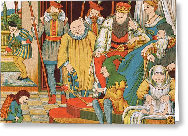 Rumpelstiltskin Greeting Card by George R Halkett