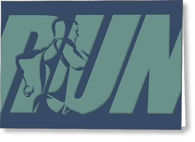 Run 1 Greeting Card by Joe Hamilton