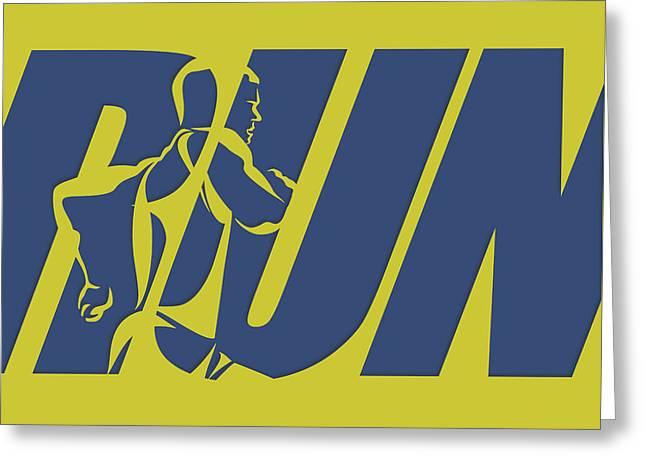 Run 5 Greeting Card by Joe Hamilton