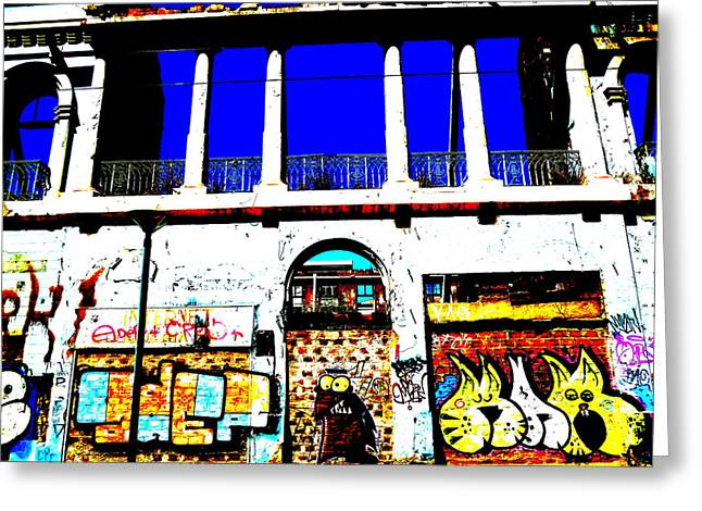 Run Down Valparaiso Buildings Greeting Card by Funkpix Photo Hunter