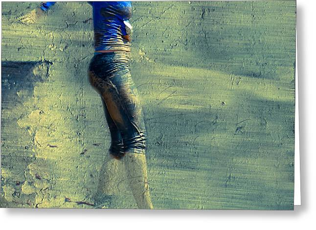 Running Blues  Greeting Card by Steven  Digman