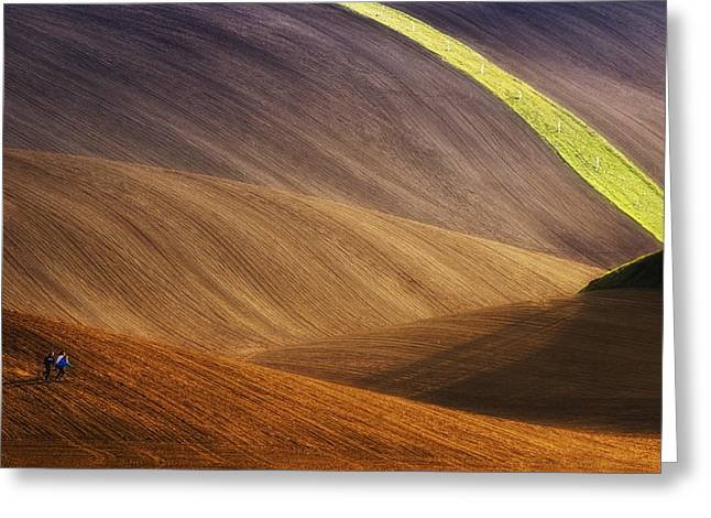 Moravia Greeting Cards - Running Free Greeting Card by Piotr Krol (bax)