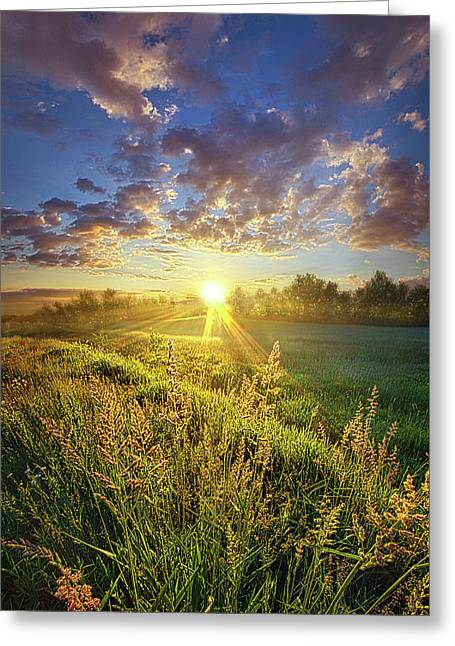 Running To Stand Still Greeting Card by Phil Koch