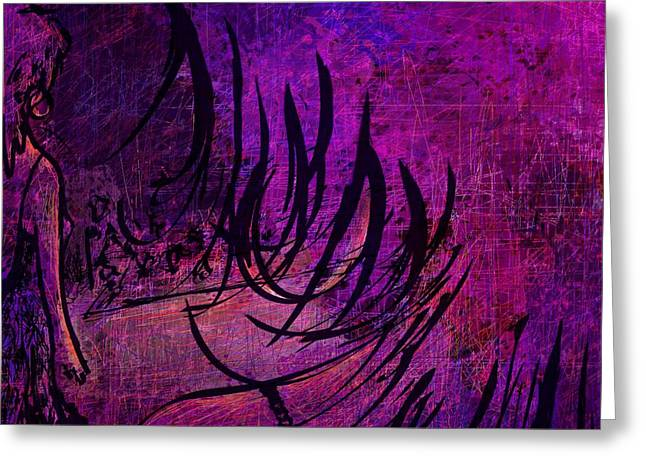 Female Fairy Abstract Greeting Cards - Runway Greeting Card by Rachel Christine Nowicki