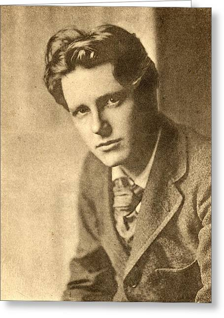 Brookes Greeting Cards - Rupert Brooke, 1887-1915. English Poet Greeting Card by Ken Welsh