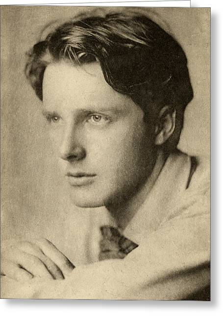 Brookes Greeting Cards - Rupert Brooke,1887-1915. English Greeting Card by Ken Welsh