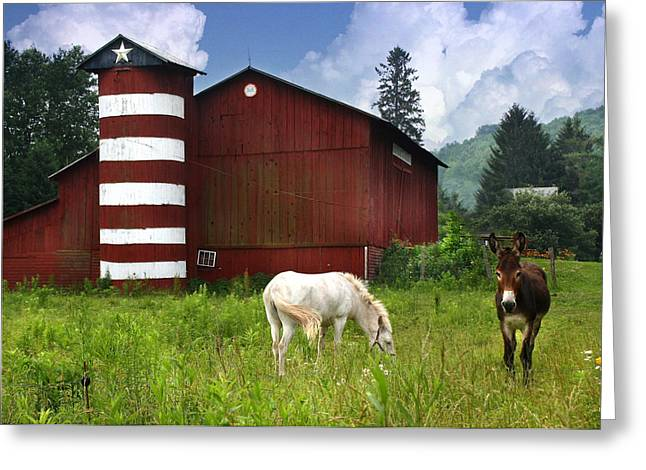 Rural America Greeting Card by Lori Deiter