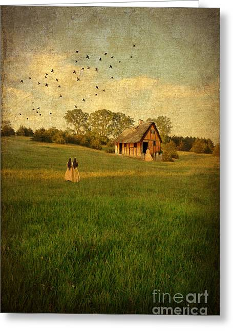 Charming Cottage Greeting Cards - Rural Cottage Greeting Card by Jill Battaglia