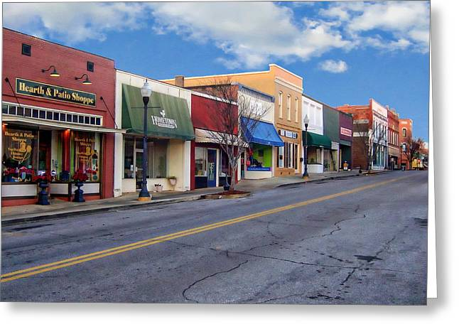 Store Fronts Greeting Cards - Rural Country Town Greeting Card by Anthony Dezenzio