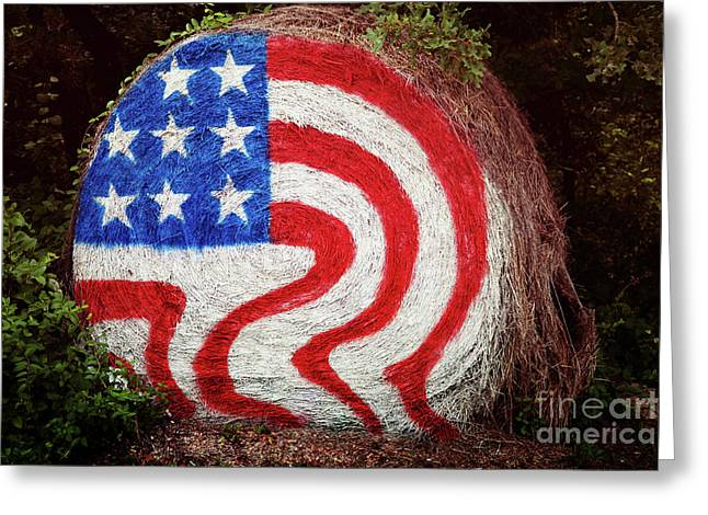 Patriotic Greeting Card Greeting Cards - Rural Flag Greeting Card by Toni Hopper