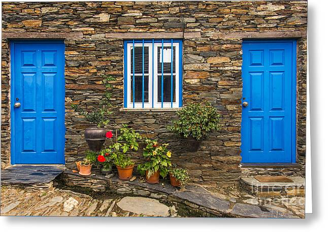 Rural House Detail Greeting Card by Carlos Caetano