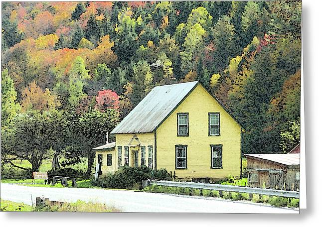 Old House Photographs Greeting Cards - Rural New England Greeting Card by Betty LaRue