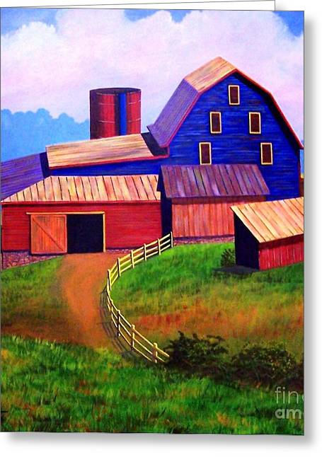 Old Barns Greeting Cards - Rural Reverie Greeting Card by Hugh Harris