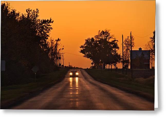 Rural Road Greeting Cards - Rural Road Trip Greeting Card by Steve Gadomski