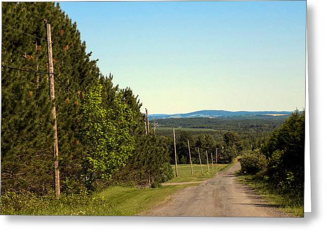 Rural Maine Roads Greeting Cards - Rural Road Greeting Card by William Tasker