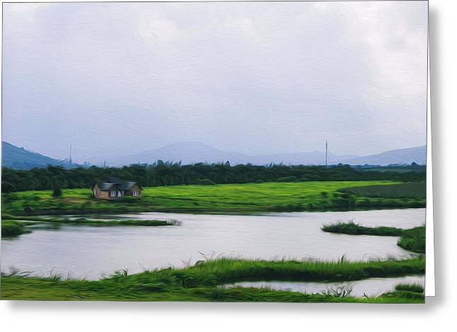 Dalat Greeting Cards - Rural scene Greeting Card by Nguyen Truc