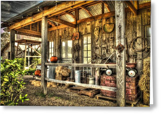 Sheds Greeting Cards - Rural Shed 2 Greeting Card by Kenneth Stotts