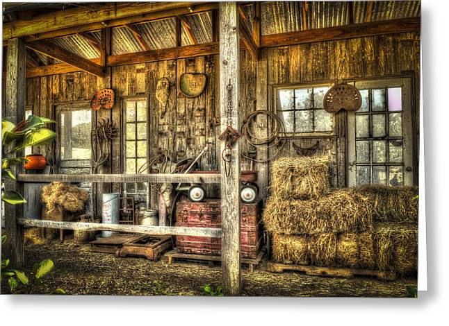 Sheds Greeting Cards - Rural Shed Greeting Card by Kenneth Stotts