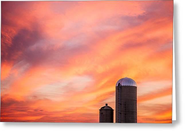Rural Skies Greeting Card by Todd Klassy