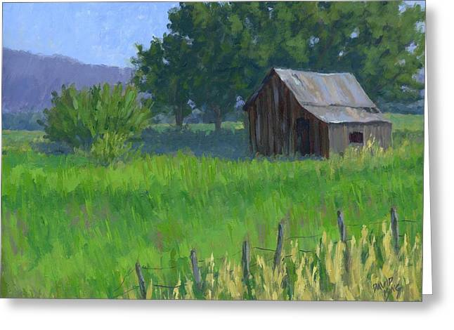 Dilapidated Paintings Greeting Cards - Rural Spring Greeting Card by David King