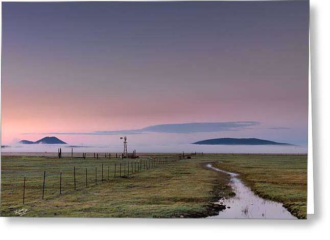 Rural Sunrise Greeting Card by Leland D Howard
