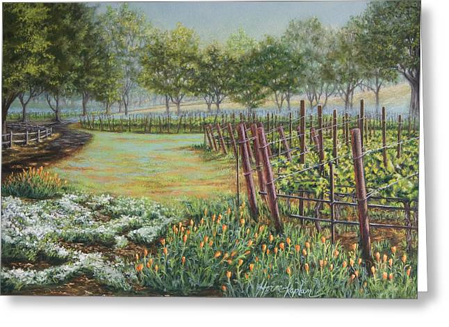 Dew Pastels Greeting Cards - Rusacks Backgate Greeting Card by Denise Horne-Kaplan
