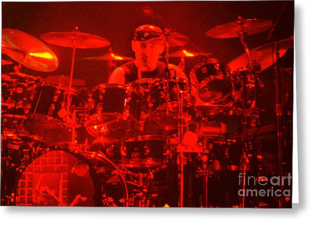 Live Art Greeting Cards - RUSH-Bones-92-Neil-1896 Greeting Card by Gary Gingrich Galleries